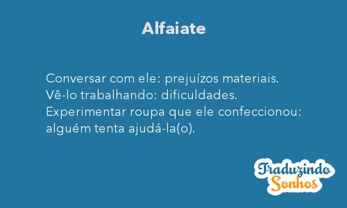 Significado do sonho Alfaiate