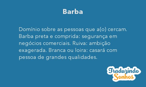 Significado do sonho Barba