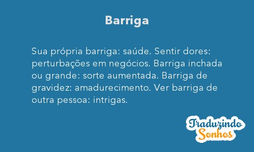 Significado do sonho Barriga