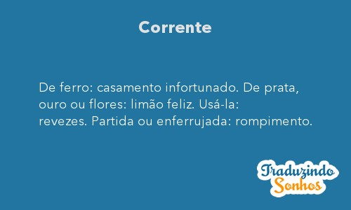Significado do sonho Corrente