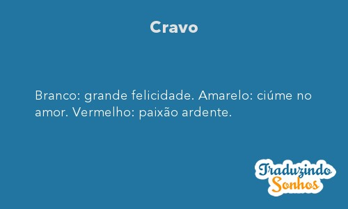 Significado do sonho Cravo