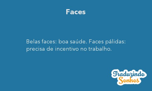 Significado do sonho Faces