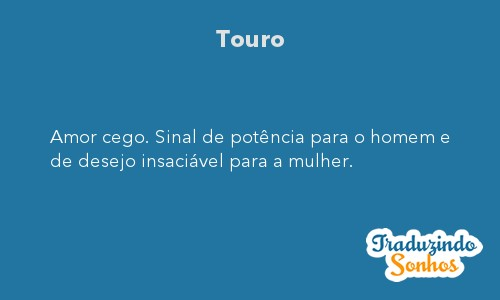 Significado do sonho Touro