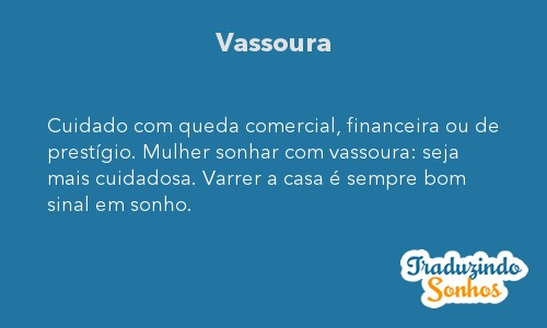 Significado do sonho Vassoura